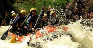 Rápidos en el río Genil