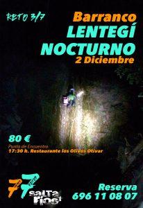Tercer Reto: Barranquismo Nocturno Lentegí