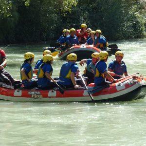 rafting fin de curso