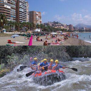 El Rafting es la alternativa al sol y playa