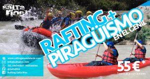 Experiencia combinada| Rafting y Piragüismo en el río Genil